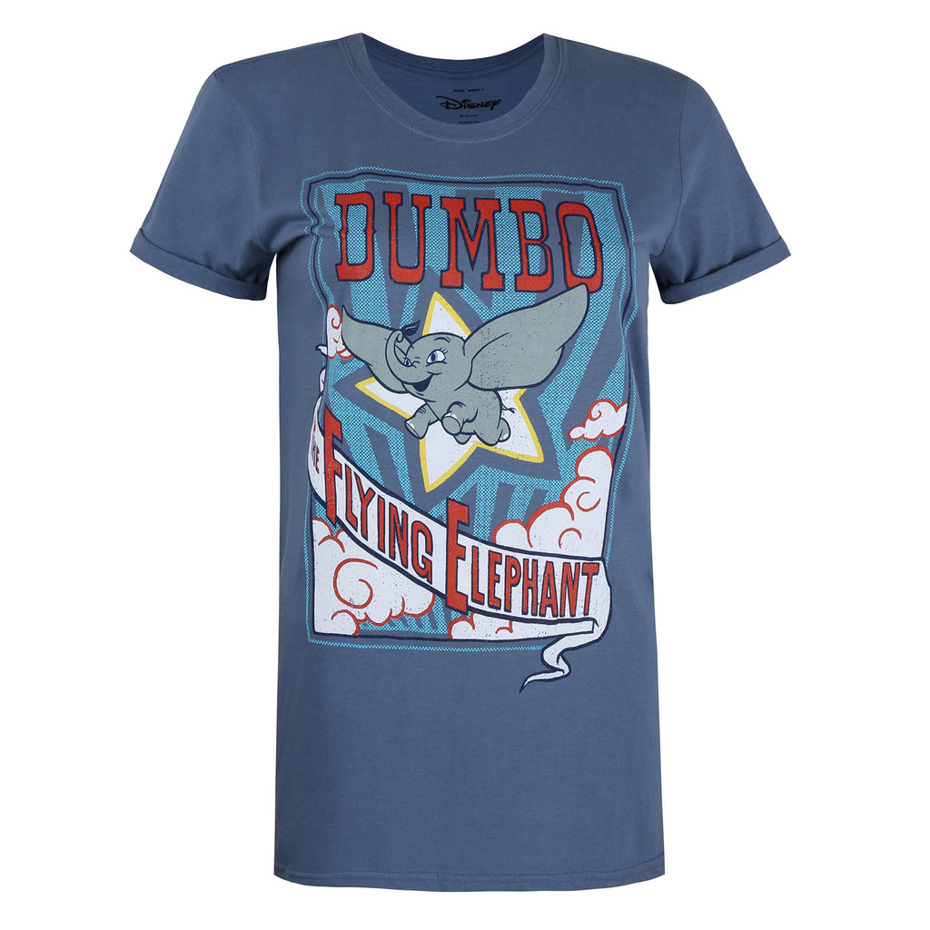 Disney Ladies - Dumbo Star - T-shirt - Indigo Blue