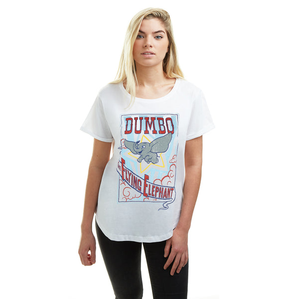 Disney Ladies - Dumbo Star - T-shirt - White