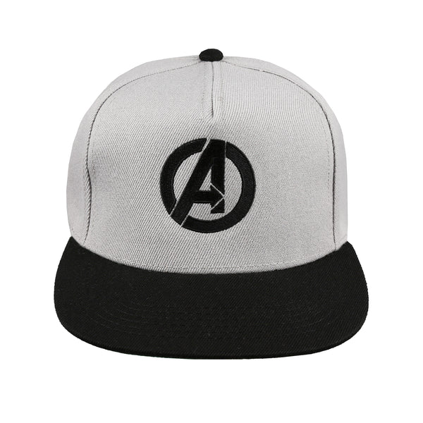 Marvel Mens - Avengers Logo - Cap - Grey/ Black