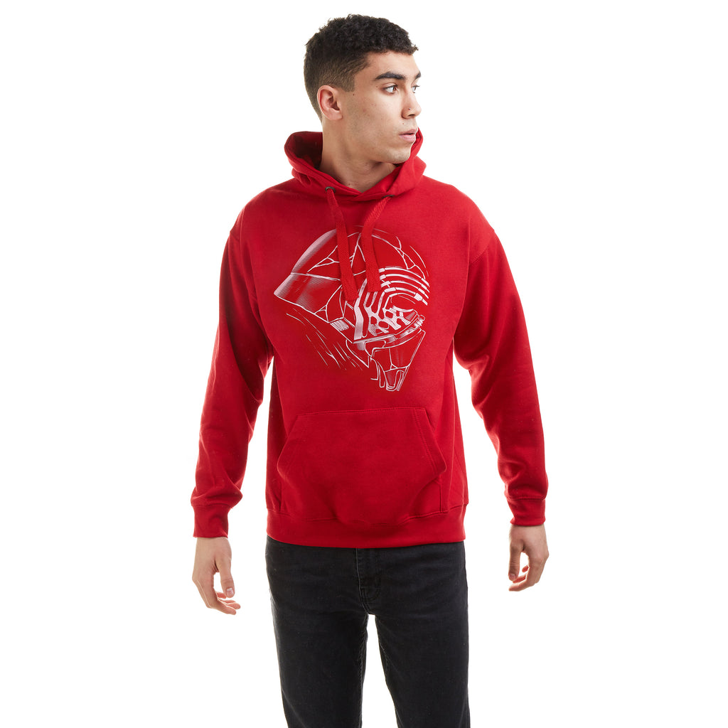 Star Wars Mens - Kylo Profile - Pullover Hood - Fire Red