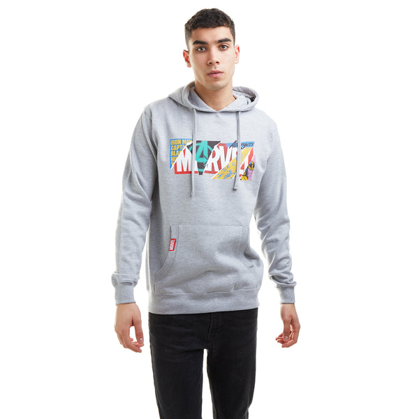Marvel Mens - Scrapbook Logo - Hoodie - Grey Heather