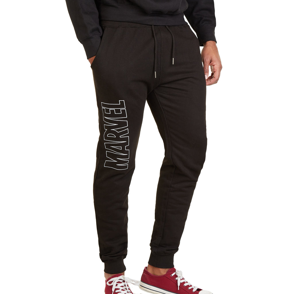 Marvel Mens - Vertical Logo - Jog Pants - Black