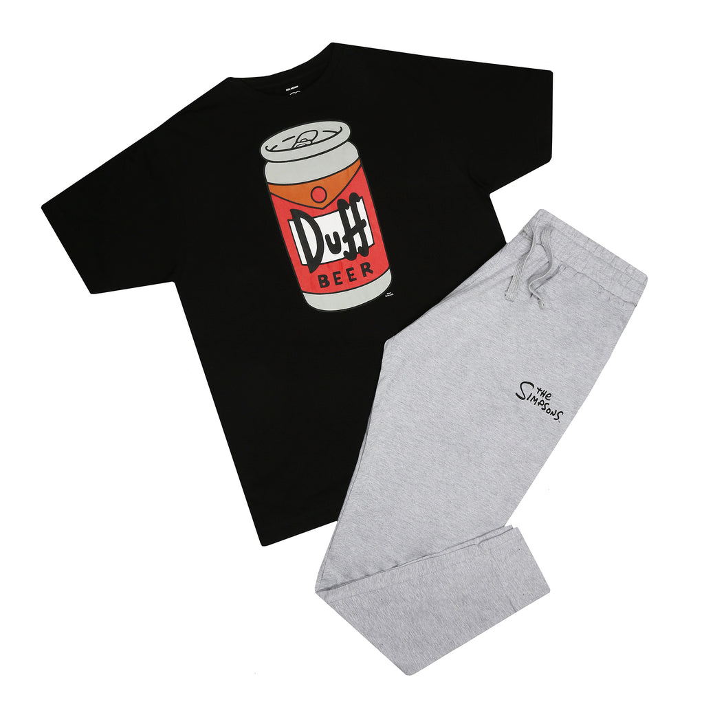The Simpsons Mens - Beer Can - Long Sleep Set - Multi