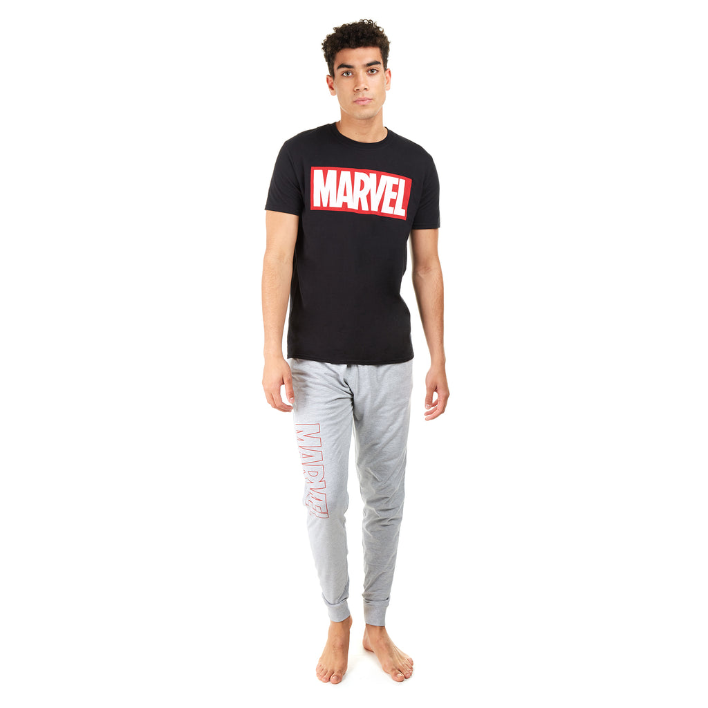 Marvel Mens - Logo - Long Sleep Set - Multi