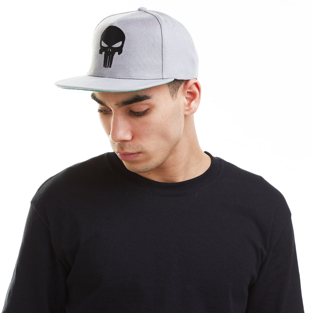 Marvel - Mens - Snapback Cap - Punisher Skull - Grey