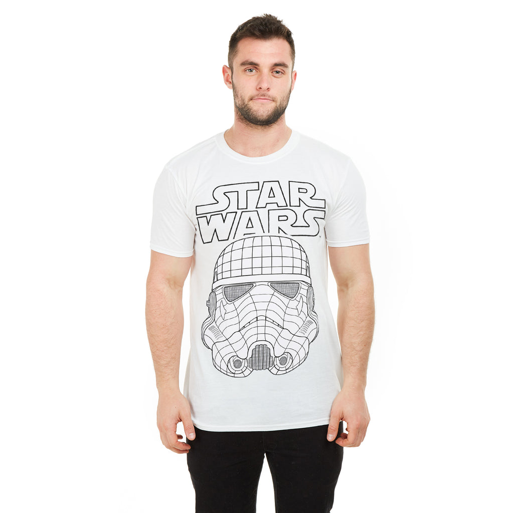 Star Wars Mens - 3D Trooper - T-Shirt - White