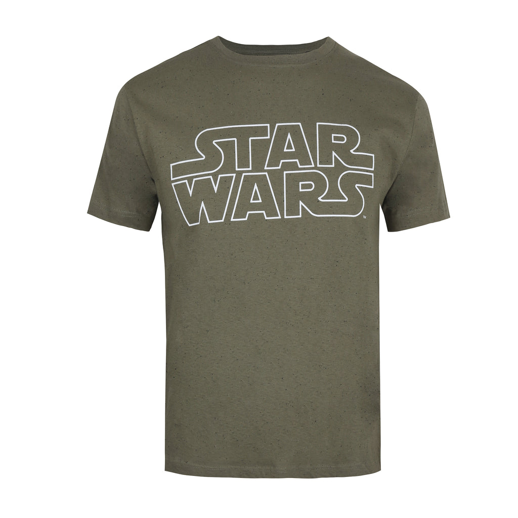 Star Wars Mens - Basic Logo - T-Shirt - Khaki Neptune
