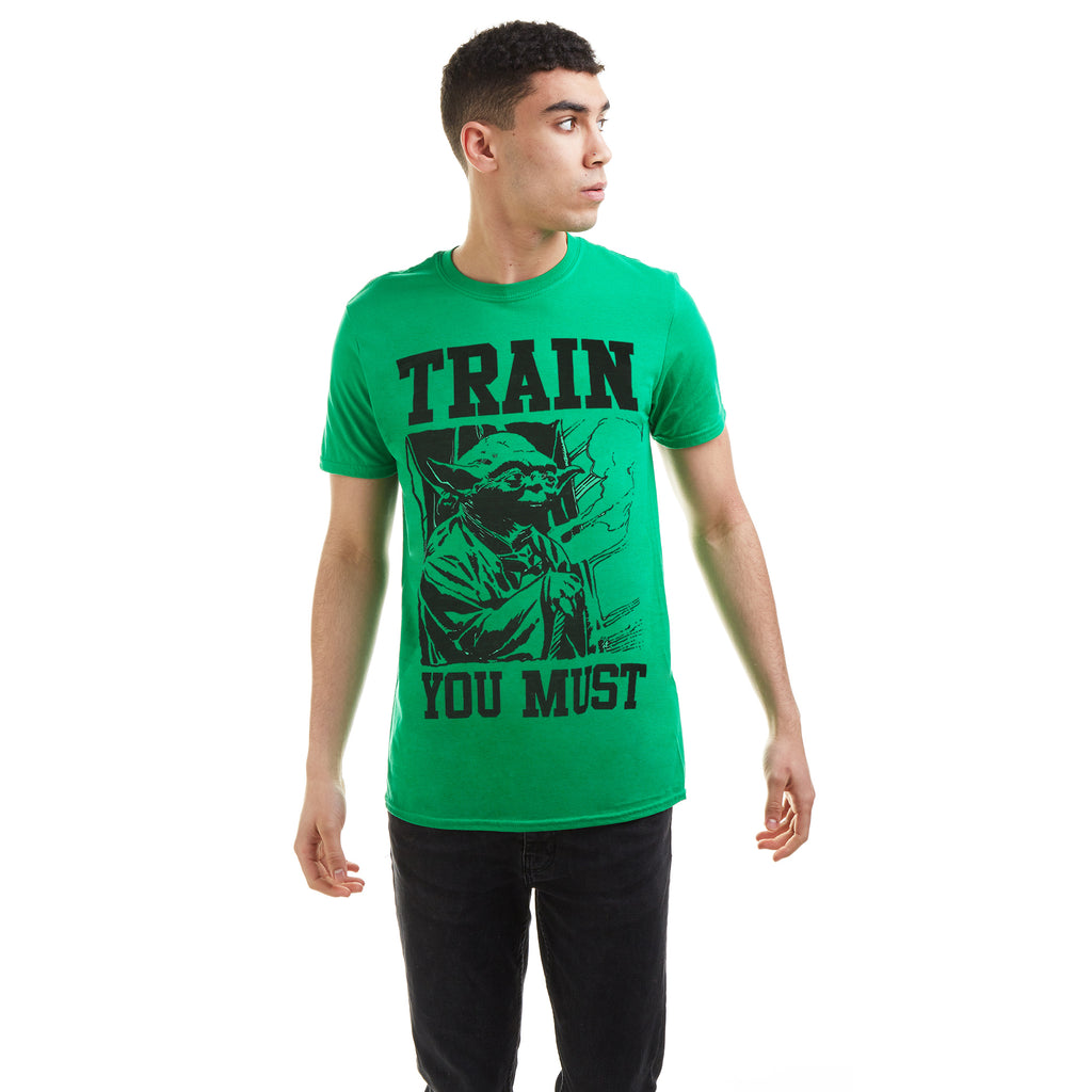 Star Wars Mens - Yoda Train - T-Shirt - Kelly Green