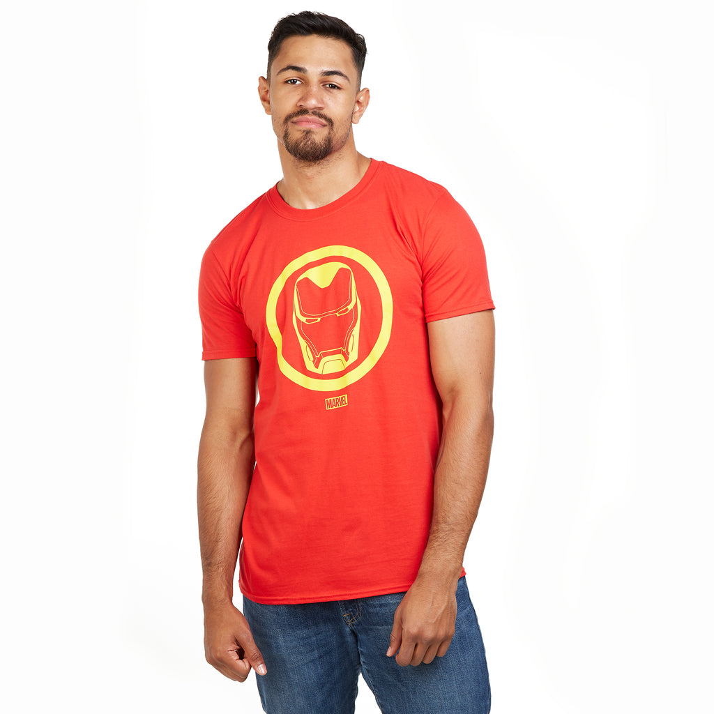 Marvel Mens - Iron Man Emblem - T-Shirt - Red