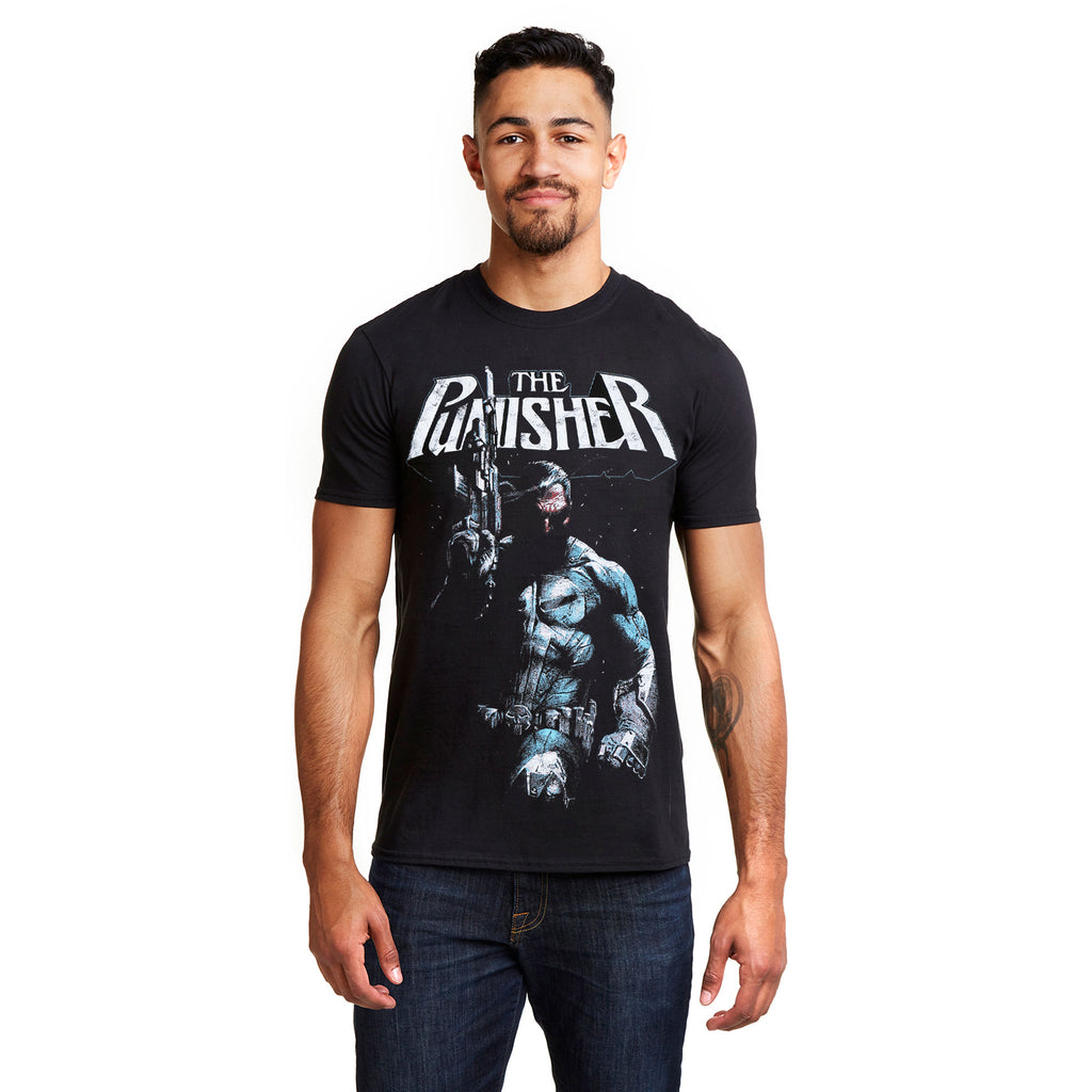 Marvel Mens - Punisher Stance - T-Shirt - Black