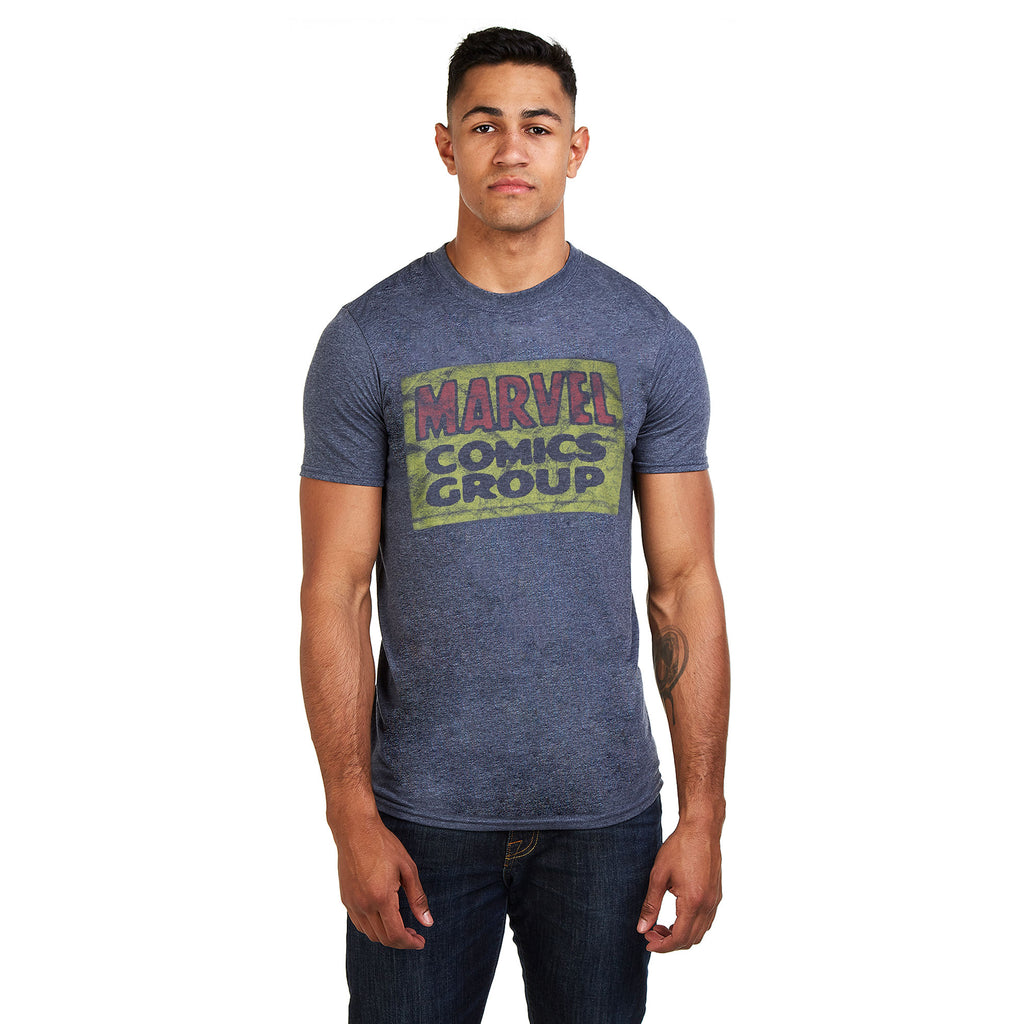 Marvel Mens - Comics Group Logo - T-Shirt - Heather Navy