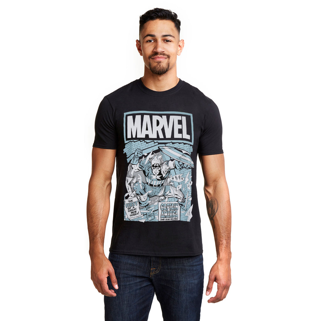 Marvel Mens - Living Legend - T-shirt - Black