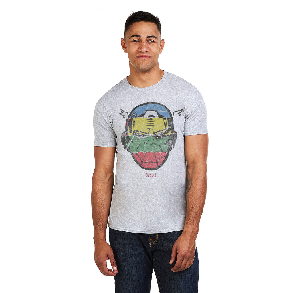 Marvel Mens - Avengers Faces - T-shirt - Grey Heather