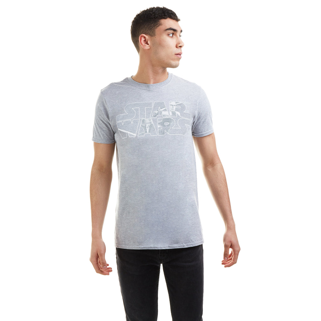 Star Wars Mens - Light Vs Dark - T-shirt - Grey Heather