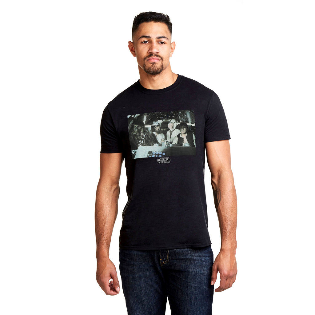 Star Wars Mens - Crew - T-shirt - Black