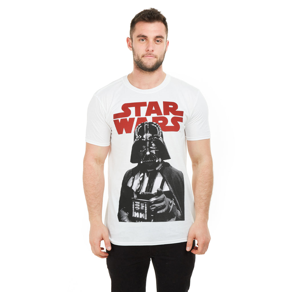 Star Wars Mens - Vader Grip - T-shirt - White
