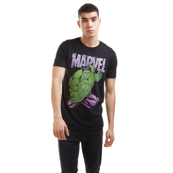Marvel Mens - Hulk Uppercut - T-shirt - Black