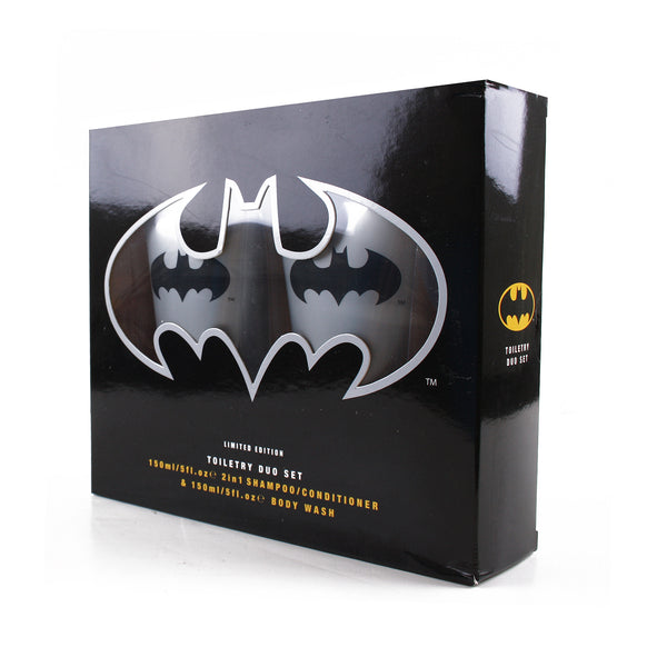 DC Comic Mens - Batman - Toiletry Duo Set - Blue
