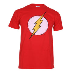 DC Comics Men's Flash Distress Retro T-Shirt | Red