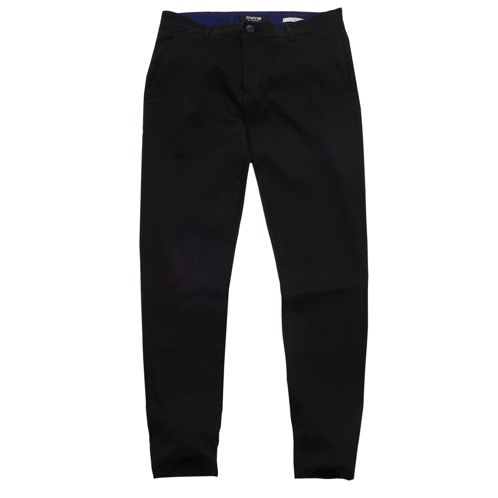 Firetrap Mens - Newaygo (s) - Chinos - Black - CLEARANCE