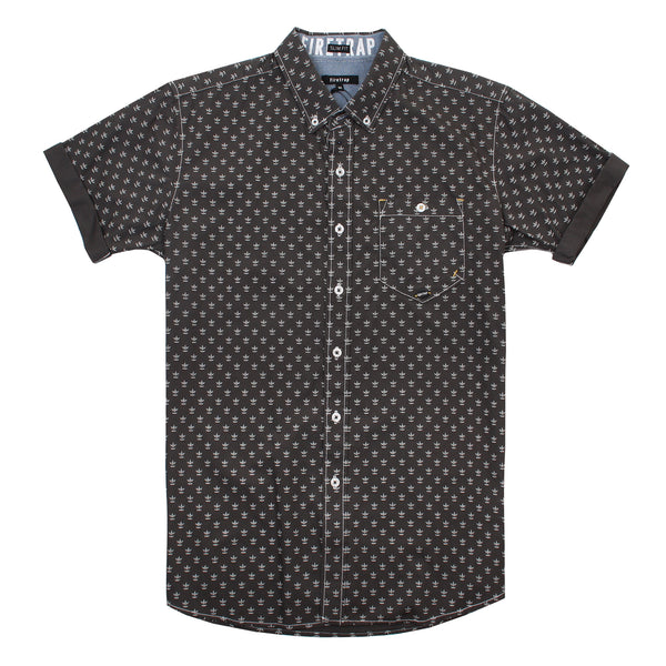 Firetrap Mens - Bulstrode - S/S Shirt - Dark Shadow