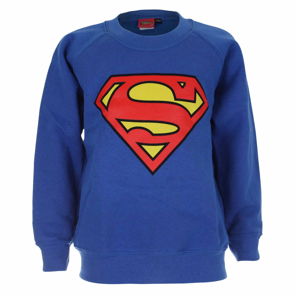 DC Comics Kids - Superman Logo - Crew Sweat - Royal Blue - CLEARANCE