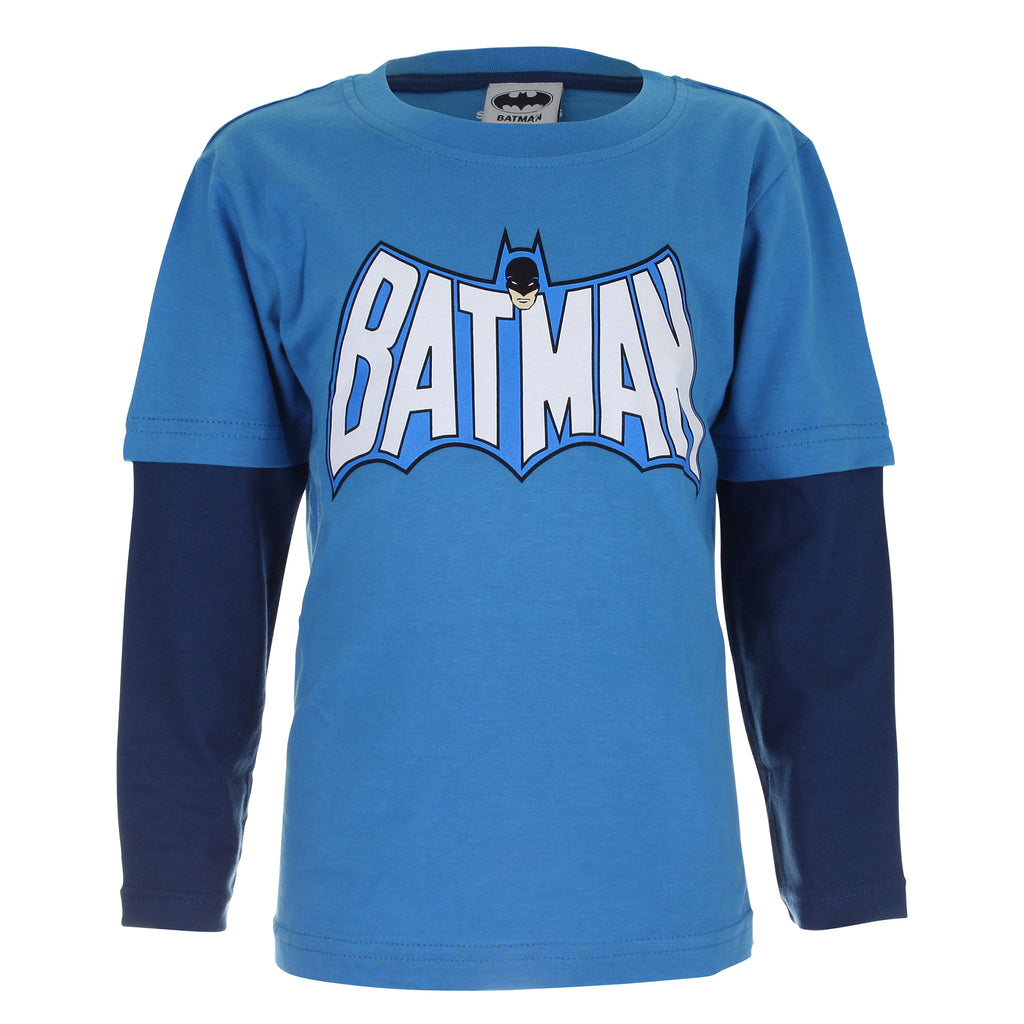 2f89b146290 DC Comics Kids - Batman Retro Logo - Long Sleeve T-Shirt - Turquoise N –  Mega T-Shirt Store