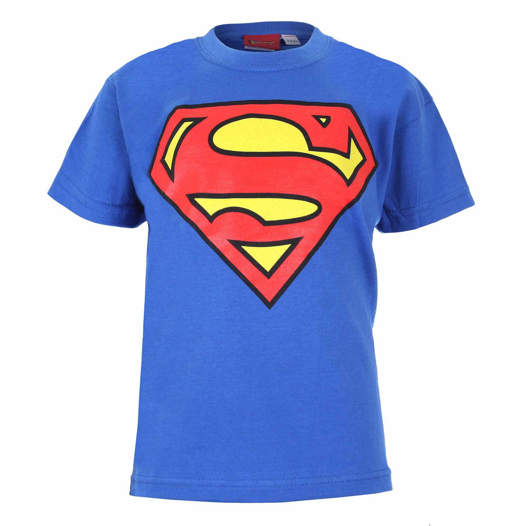 Dc Comics Boys Superman Logo T Shirt Royal Blue Mega T Shirt Store
