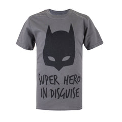 DC Comic Boys Batman Disguise T-Shirt - Charcoal