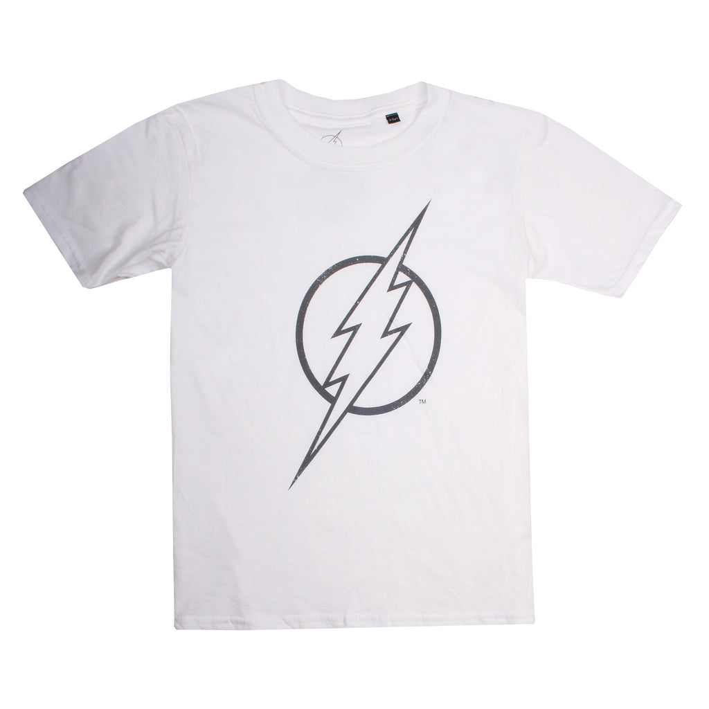 DC Comics Boys - Flash Line Logo - T-Shirt - White