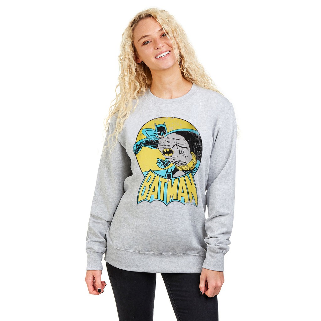 DC Comics Ladies - Batman - Crew Sweat - Heather Grey