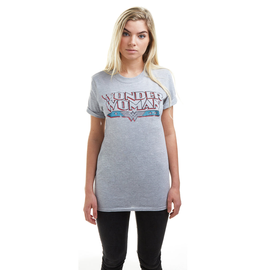 DC Comics Ladies - Wonder Woman Retro - T-Shirt - Sport Grey
