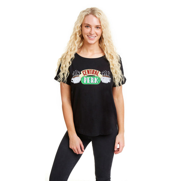 Friends Ladies - Central Perk - T-shirt - Black