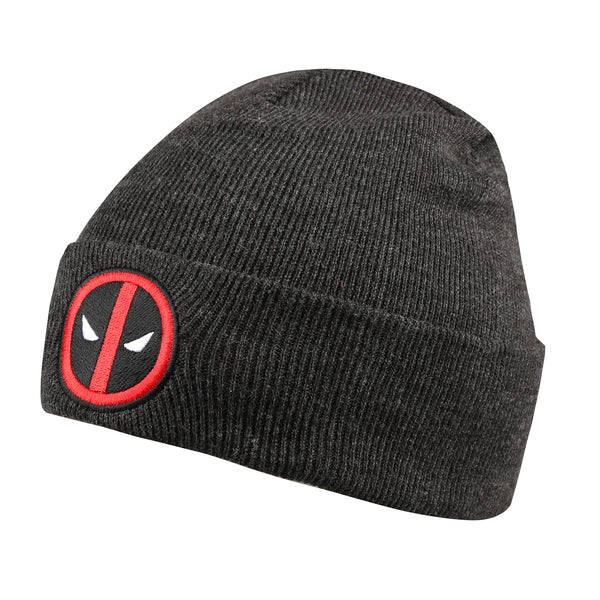 Marvel Mens - Deadpool Logo - Beanie - Charcoal