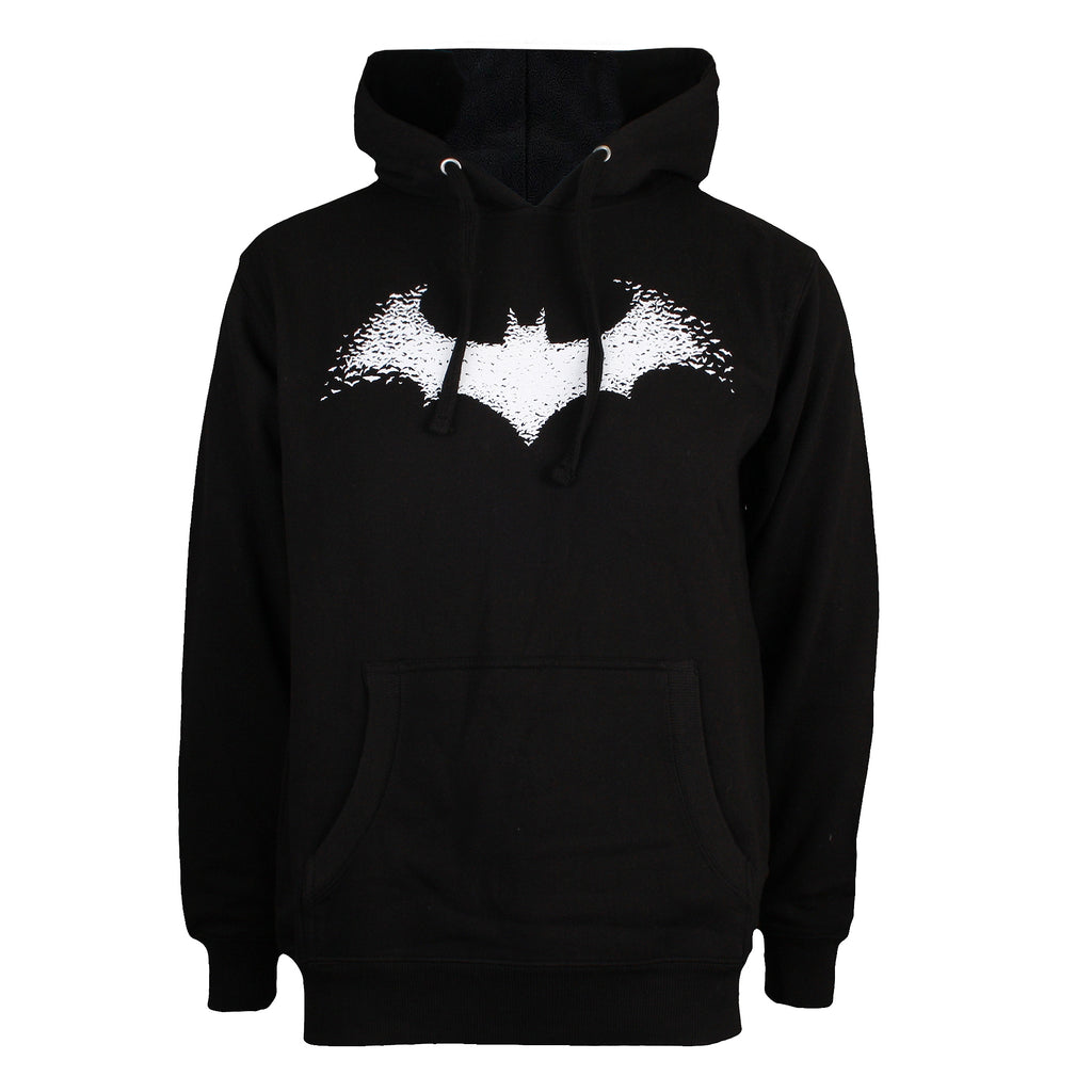 DC Comics Mens - Bat Logo - Pullover Hood - Black