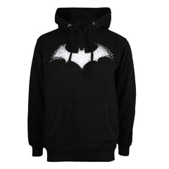 DC COMICS - BAT LOGO - MENS P/O HOOD - BLACK