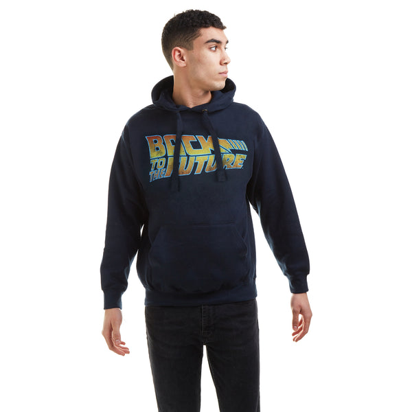 Back To The Future Mens - Logo - Pullover Hood - Navy