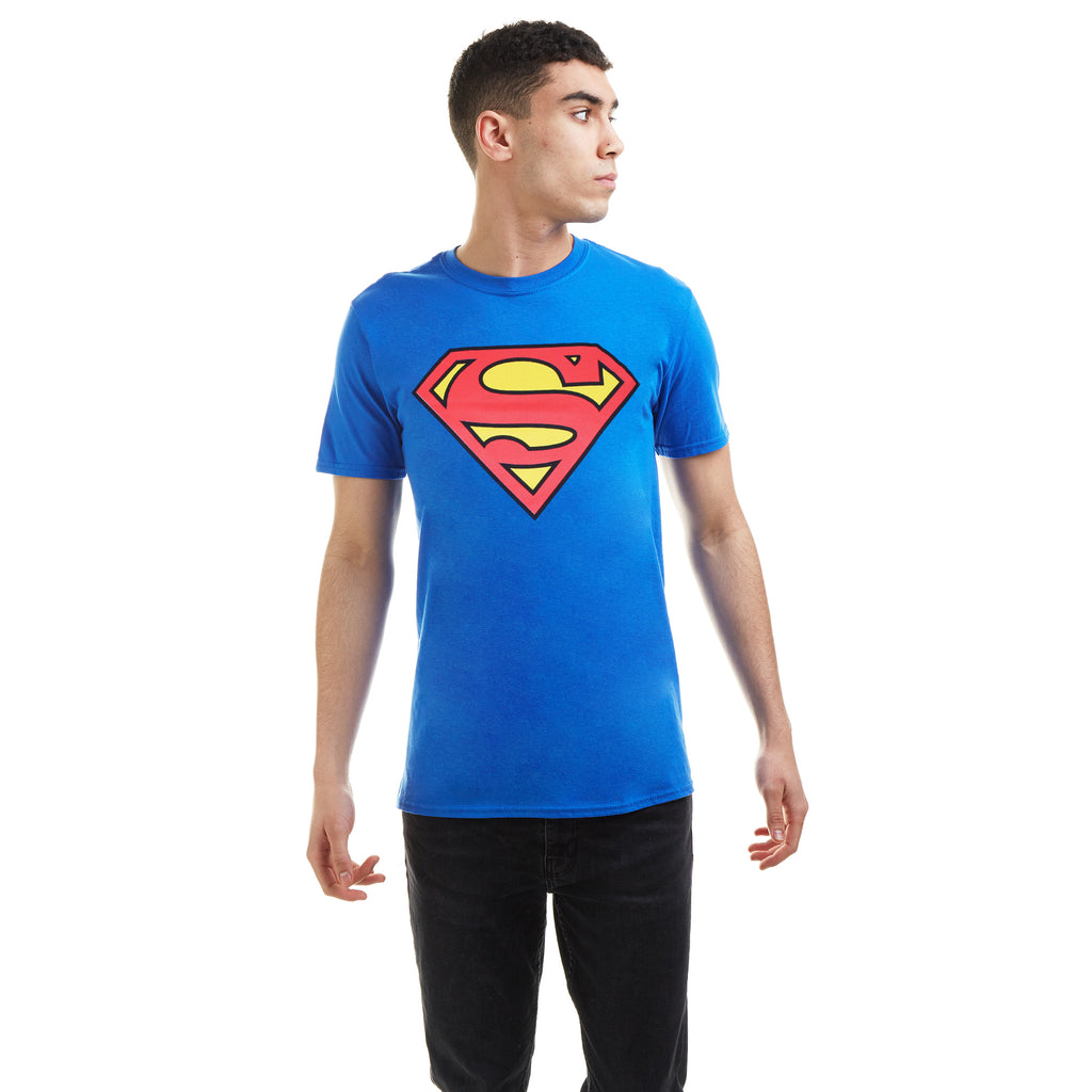 DC Comics Mens - Superman Logo Retro - T-Shirt - Royal Blue