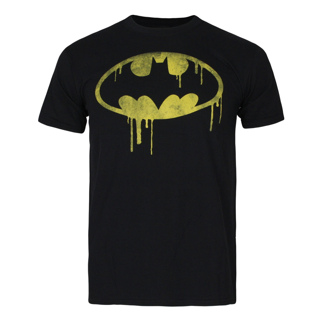 DC Comics Mens - Batman Dripping Logo - T-shirt - Black