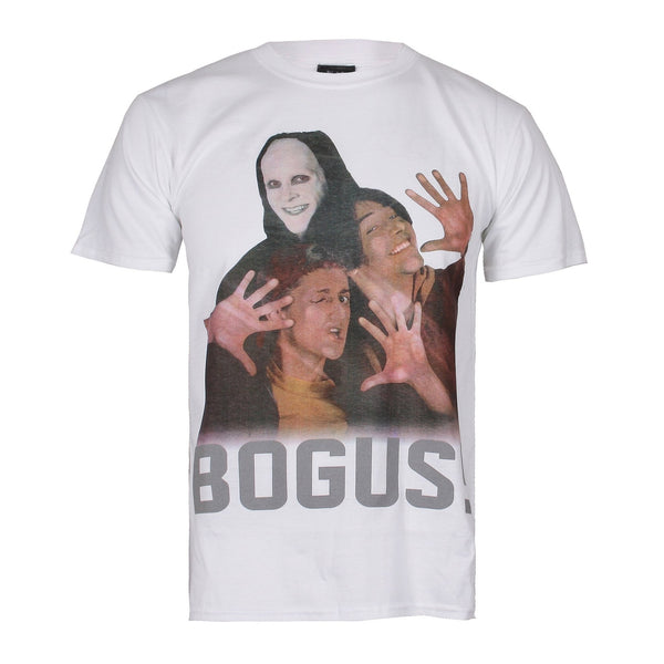Bill & Ted Mens - Bogus - T-shirt - White - CLEARANCE