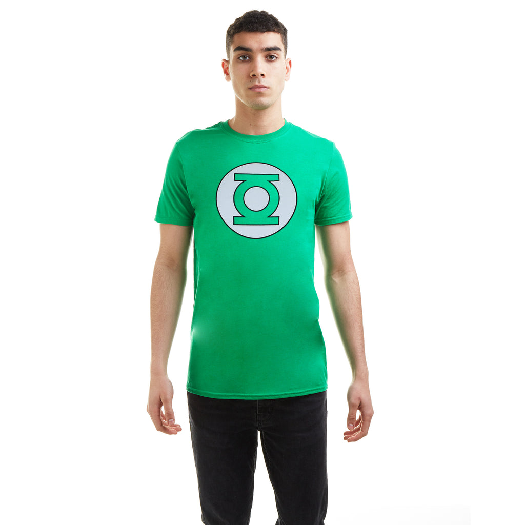 DC Comics Mens - Green Lantern Circle Logo - T-Shirt - Irish Green