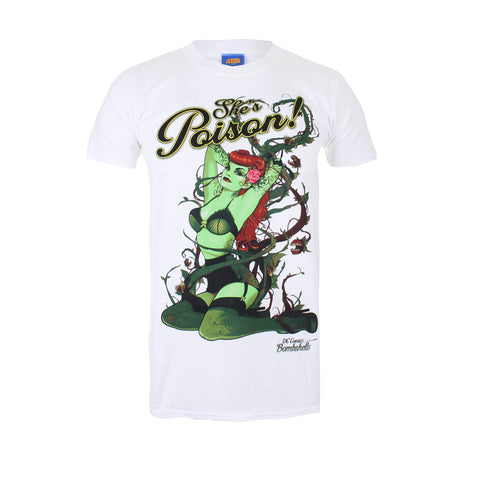 DC Comic Mens Poison Ivy T-Shirt - White