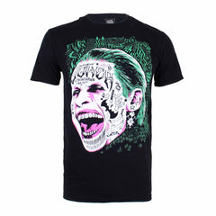 DC Comics Mens Joker Screaming T-Shirt - Black