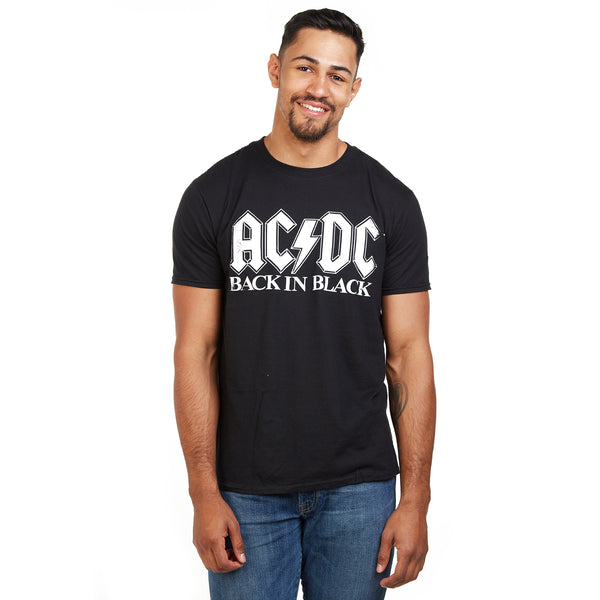 AC/DC Mens - Back in Black - T-Shirt - Black