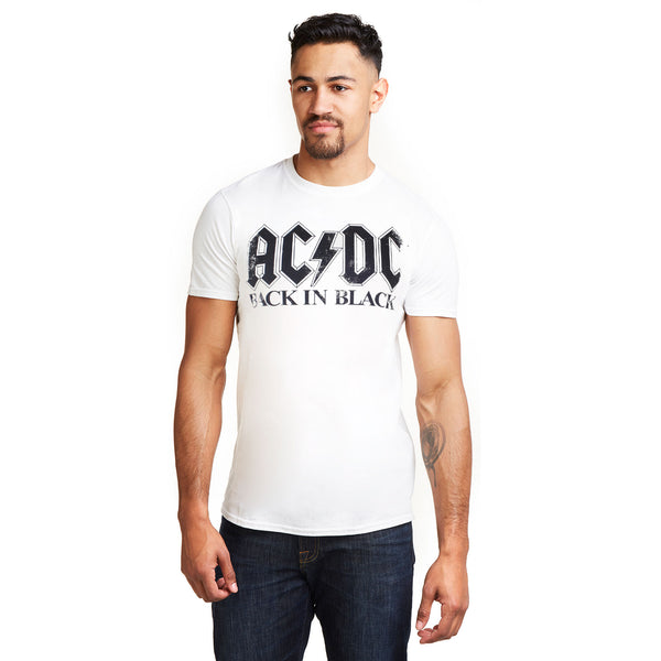 AC/DC Mens - Back In Black - T-Shirt - White