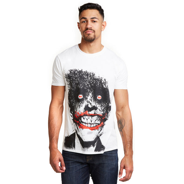 DC Comics Mens - Joker Eyes - T-shirt - White