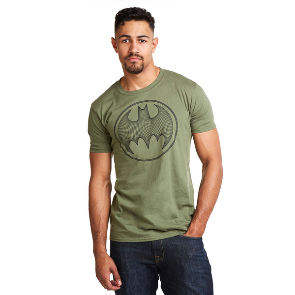 DC Comics Mens - Batman 3D - T-Shirt - Military Green