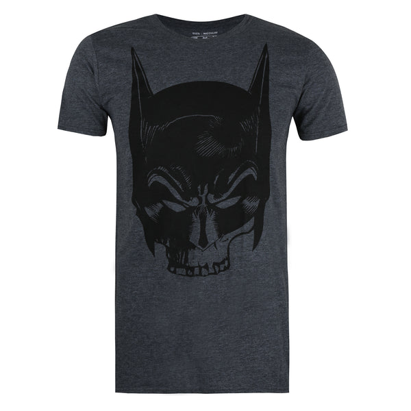 DC Comics Mens - Batman Skull - T-shirt - Dark Heather