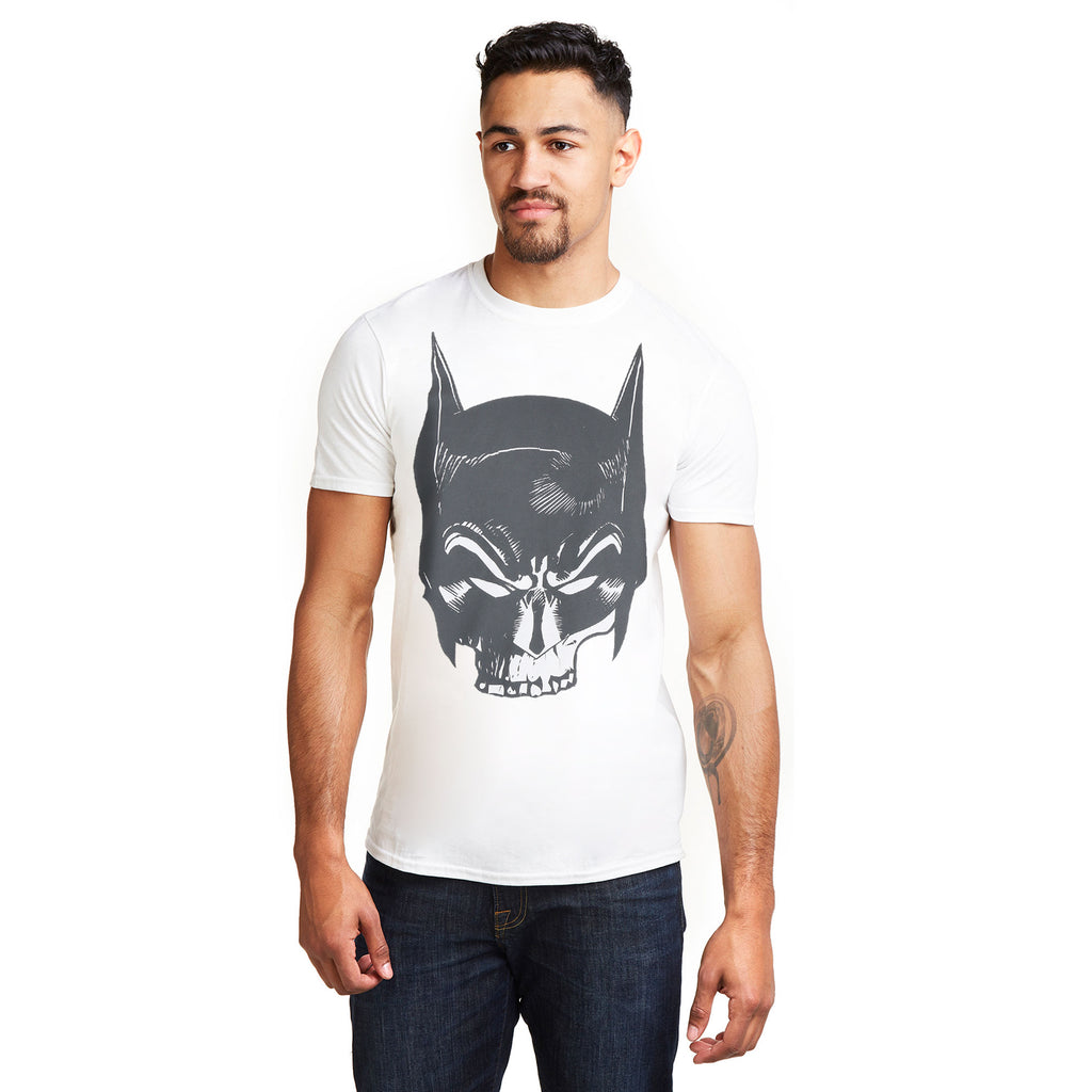 DC Comics Mens - Batman Skull - T-shirt - White