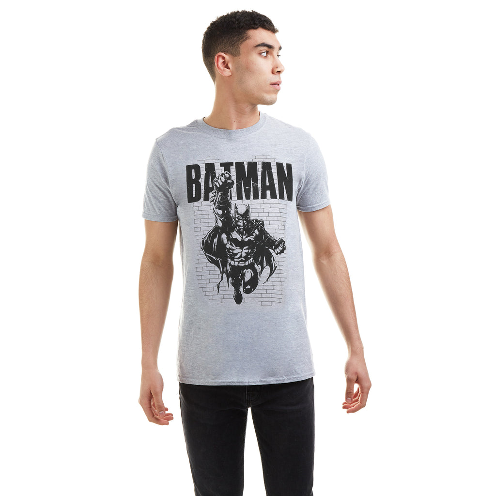 DC Comics Mens - Batman Strike - T-shirt - Grey Marl